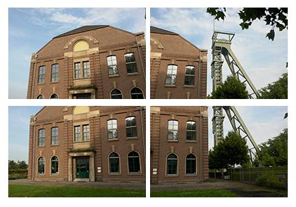 Bild 2: Die 4 Originalaufnahmen mit mittlerer Belichtung